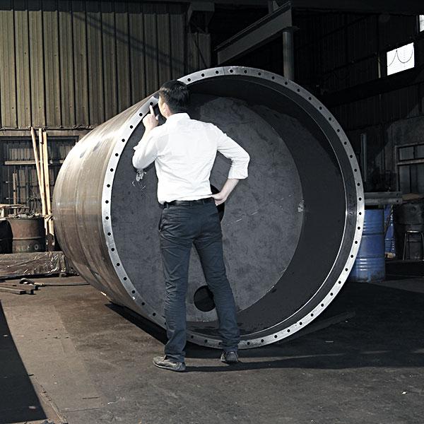巨型滾輪深孔加工
